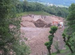 lavori di scavo a Castelfeder